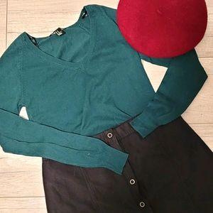 💛3/25$ Forever 21 Green Long sleeve
